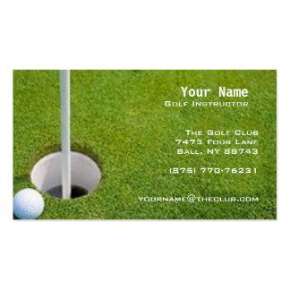 Golf Instruction Business Card Template
