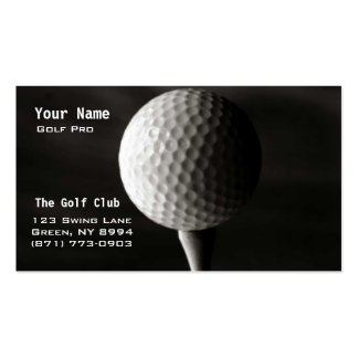 Golf Instruction Double-Sided Standard Business Cards (Pack Of 100)