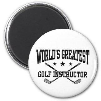 Golf Instructor 2 Inch Round Magnet