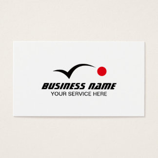 Golf Instructor Bouncing Red Dot Business Card