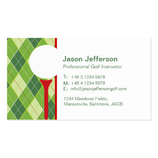 Golf instructor business cards