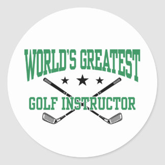 Golf Instructor Classic Round Sticker