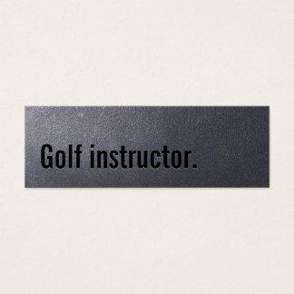 Golf Instructor Professional Dark Minimal Mini Business Card
