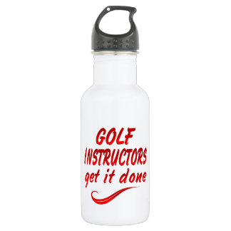 Golf Instructors Get it Done Stainless Steel Water Bottle
