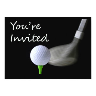 "Golf Invitation 5"" X 7"" Invitation Card"