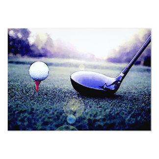 Golf Invitations - Golf Ball & Bat Artwork