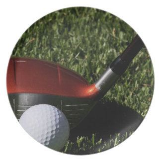 Golf Iron and Ball Plate