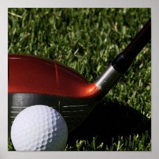 Golf Iron and Ball Print