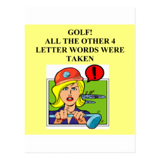 golf is a four letter word postcard