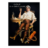 Golf Is A Great Game - Art On Canvas Print