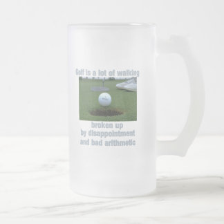 Golf is a lot of walking frosted glass beer mug