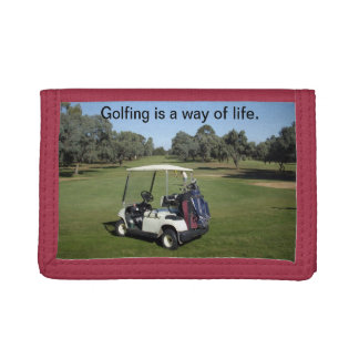 Golf_Is_A_Way_Of_Life cartera de cuero para hombr