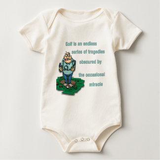 Golf is an endless series of tragedies baby bodysuit