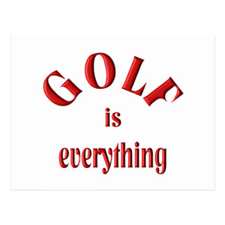 Golf is Everything Postcard