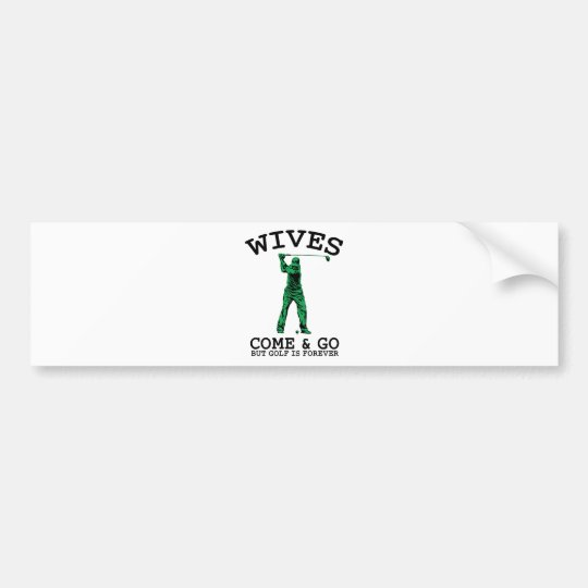 Golf Is Forever Bumper Sticker