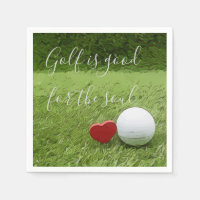 Golf is good for the soul Napkin