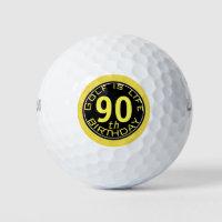 Golf is Life Customizable 90th Birthday Golf Ball