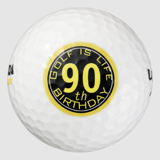 Golf is Life Customizable 90th Birthday Golf Ball