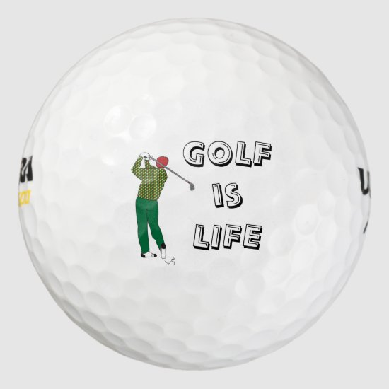 GOLF is LIFE, Golfer, Golf Quote Golf Balls