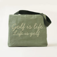 Golf is life, Life is golf tote bag