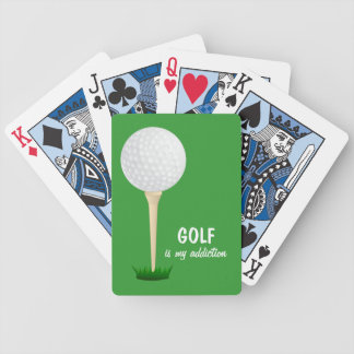 Golf is my Addiction Ball Tee Green Playing Cards