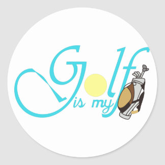 Golf is my Bag Classic Round Sticker