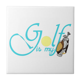 Golf is my Bag Small Square Tile