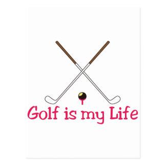 Golf is My Life Postcard