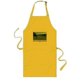 Golf Is My Modus Operandi (Golfer On Golf Course) Apron