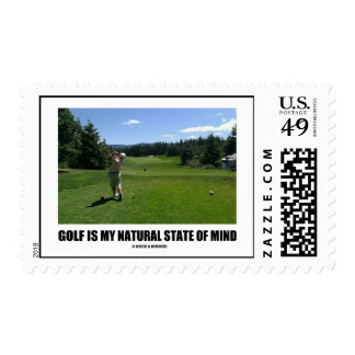 Golf Is My Natural State Of Mind (Golfer Golfing) Postage