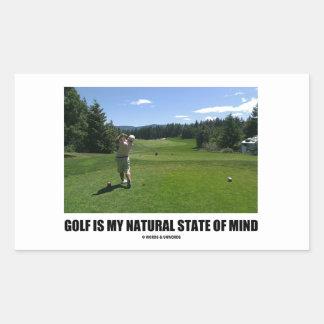Golf Is My Natural State Of Mind (Golfer Golfing) Rectangular Sticker