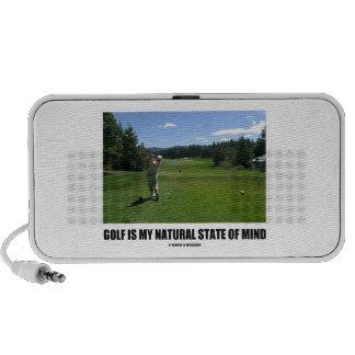 Golf Is My Natural State Of Mind (Golfer Golfing) Mp3 Speaker