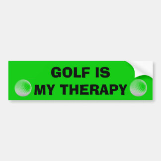 Golf is my Therapy Bumper Stickers