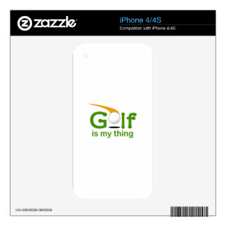 Golf Is My Thing iPhone 4S Skins