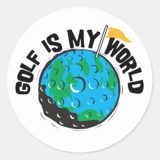 Golf Is My World Classic Round Sticker