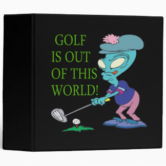 Golf Is Out Of This World Binder