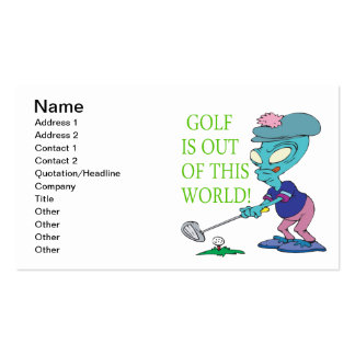 Golf Is Out Of This World Business Card