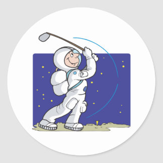 Golf Is Out Of This World Classic Round Sticker