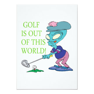 Golf Is Out Of This World Personalized Invitation