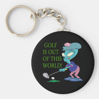 Golf Is Out Of This World Keychain