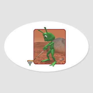 Golf Is Out Of This World Oval Sticker