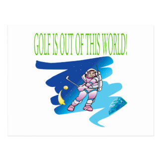Golf Is Out Of This World Postcard