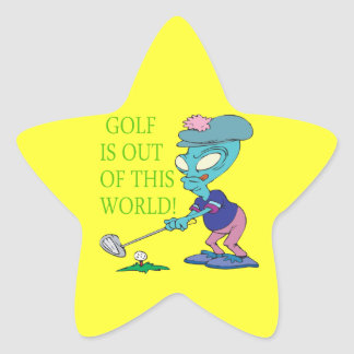 Golf Is Out Of This World Star Sticker