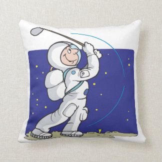 Golf Is Out Of This World Throw Pillows