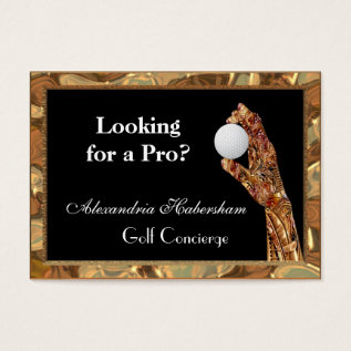 Golf Is The Game Business Card at Zazzle