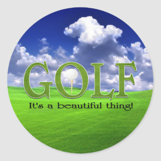 Golf Its a beautiful thing Classic Round Sticker