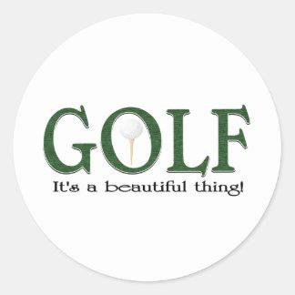 Golf Its a beautiful thing Classic Round Sticker