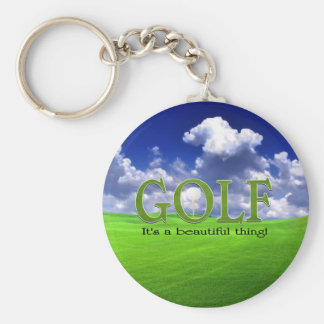 Golf Its a beautiful thing Keychains
