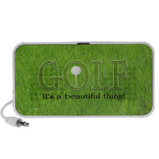 Golf its a beautiful thing travel speaker