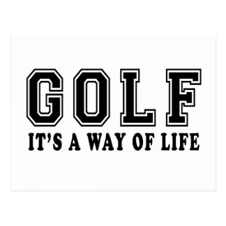 Golf It's way of life Postcard
